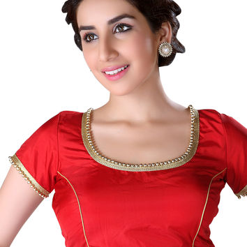 Classy Red Ready-Made Saree Blouse X-144S