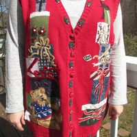 tacky christmas sweater, tacky christmas vest, christmas clothes, christmas sweater, christmas vest, tacky sweater party, holiday sweater