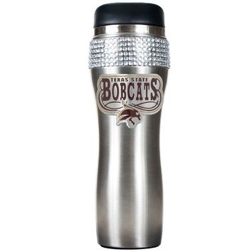 Great American Products Texas State University 14 oz. Stainless-Steel Bling Tumbler