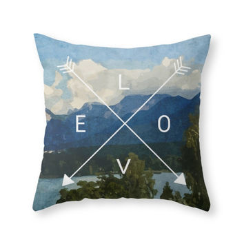 Society6 Mountains Throw Pillow