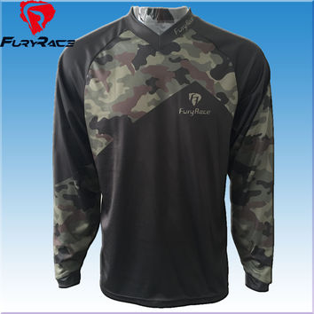 Fury Race More Models Camouflage Downhill Jerseys Men MTB Motocross T-shirt Motorcycle Cycling Wear Bike Shirts Jersey Clothing