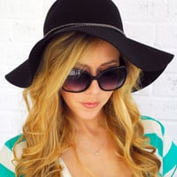 Joplin Floppy Hat- Black