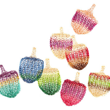 Multicolor Wire Crochet Dreidel , Unique Handmade Judaica