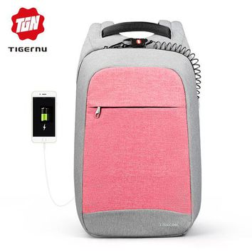 University College Backpack Tigernu Fashion Women's  Daily   School Bag for Teenager Gilrs 15.6inch Anti theft laptop AT_63_4