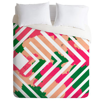 Rebecca Allen The Garden Stripe Duvet Cover