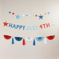 Stars and Stripes Paper Garland