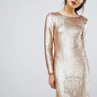 Oasis Sequin Tube Dress at asos.com