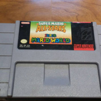 Super mario world / Super Mario all stars - super Mario bros 1 2 3 & lost worlds!  Super Nintendo snes system console game