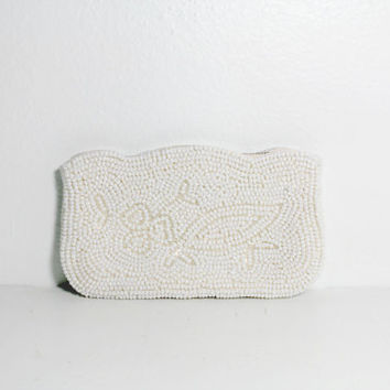 1950s Scalloped Beaded Wallet by Debbie