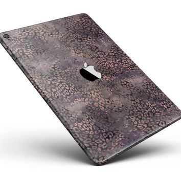 "Black and Purple Watercolor Leopard Pattern Full Body Skin for the iPad Pro (12.9"" or 9.7"" available)"