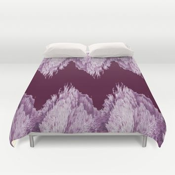 Season of the Chevron - Abstract in Magenta Duvet Cover by michael jon