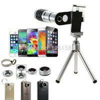 9 Piece Camera Photography Lens Kit:Awesome 4 lenses+Mount Stand Phone Holder For Nexus 4/5/6//For Samsung S4 S3 S2 MINI S5 Neo
