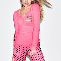 Thermal Sleep Henely - PINK - Victoria's Secret