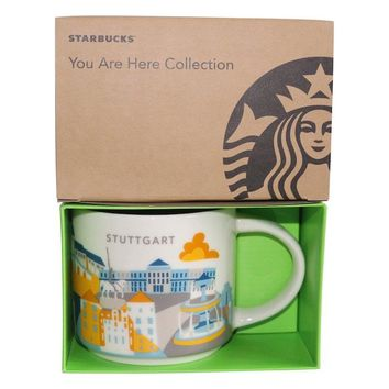 Starbucks You Are Here Collection Germany Stuttgart Ceramic Coffee Mug New w Box