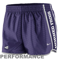 Nike TCU Horned Frogs Womens Chainmaille Pacer Performance Shorts - Purple