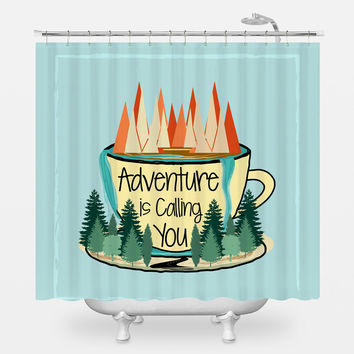 Adventure is Calling Shower Curtain