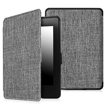 Fintie Case for Kindle Paperwhite - The Thinnest and Lightest Premium Fabric Cover Auto Sleep/Wake for All-New Amazon Kindle Paperwhite (Fits All 2012, 2013, 2015 and 2016 Versions), Sandstone Fabric
