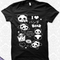 I Love Panda Bear Ponya T-Shirt