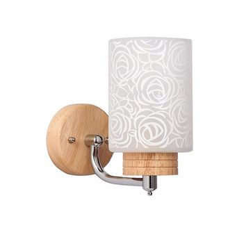 Wooden Up Down Wall Lamp Light