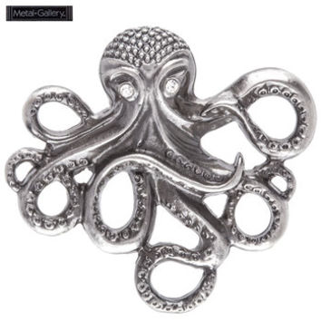 Antique Silver Octopus Pendant with Rhinestones | Hobby Lobby | 162818