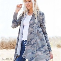 The French Camo Cardigan