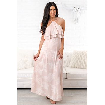 Don't Look Back Printed Maxi (Blush)
