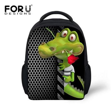 Cool Backpack school New Arrival Funny Small Yellow Duck Style backpacks kindergarten baby school back pack bag cool frog print mochila feminina bags AT_52_3