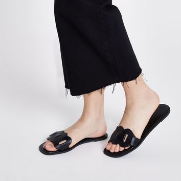 Black leather sandals - Sandals - Shoes & Boots - women