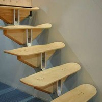 Skateboard Stairs - Recycling at Roartocket Skateboard School