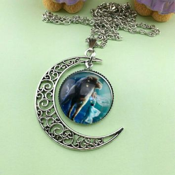 BRAND NEW Crescent Moon Aries Lion Necklace