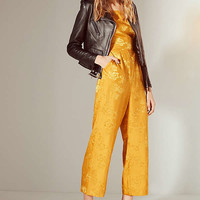 UO Lily Jacquard Lace-Up Jumpsuit   Urban Outfitters