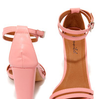 One Little Song Pink High Heel Sandals
