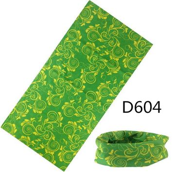 C.gree Print Scarf Multifunctional Seamless Tubular Bandana Plaid Cycling Motorcycle Scarf 25*48cm Silk Headband Halloween