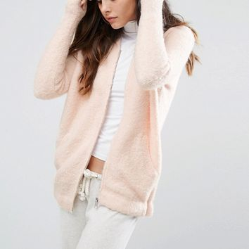 River Island Knitted Bomber Jacket at asos.com