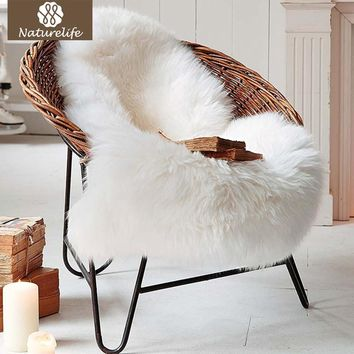 Naturelife Soft Artificial Sheepskin Rug Chair Cover Artificial Wool Warm Hairy Carpets for living room Skin Fur Area Rugs