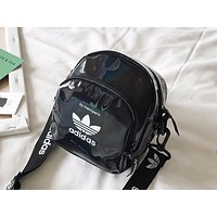 ADIDAS x NIKE x PUMA Hot Selling Ladies Reflective Single Shoulder Smooth Shopping Bag ADIDAS Black