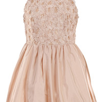ROMWE | Rose Off-shoulder Sequined Nude Dress, The Latest Street Fashion
