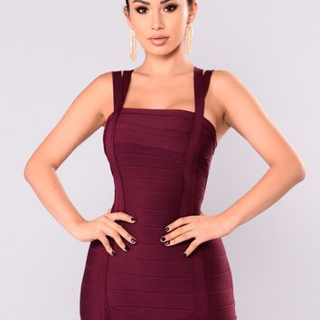Lisbon Bandage Dress - Berry