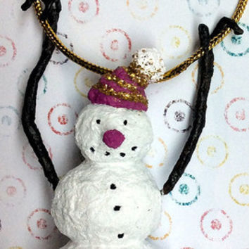 Snowman ornament Christmas ornament Christmas de