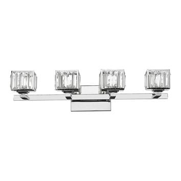 "TRILLUMINATE Contemporary 4 Light  Crystal Globe Bath Vanity Wall Fixture 29"" Wide"