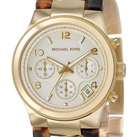 Women's Michael Kors Chain Bracelet Chronograph Watch, 38mm - Tortoise