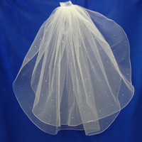 wedding veil two layer sparkle veil by Hoalanebridal on Etsy