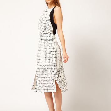 Rachel Comey Orson Dress in Grid Print
