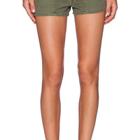 The Great The High Waist Army Short in Olive