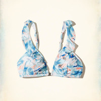 Girls Ruffle Triangle Bikini Top | Girls Swimwear | HollisterCo.com