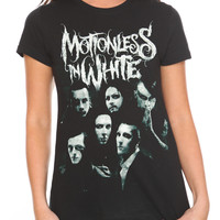 Motionless In White Faces Girls T-Shirt | Hot Topic