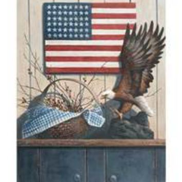 Eagle & Basket with Berries