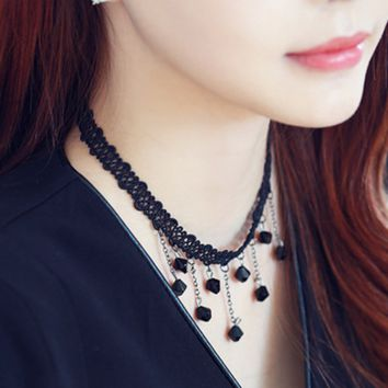 Lace Collar Neckband Necklace Female Short Paragraph Clavicle Chain Necklace Jewelry-0411
