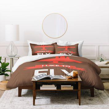 Naxart I Like To Fly 6 Duvet Cover