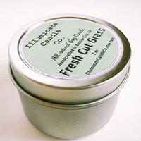 Fresh Cut Grass Soy wax Candle,Soy Candle Tin, Scented Soy Candles, Hand Poured Soy Candles, Soy Candles Handmade